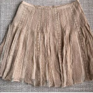 Anthropologie Odille tulle and lace silk skirt